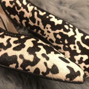 Michael Kors Calf Hair Animal Print Heels!!!